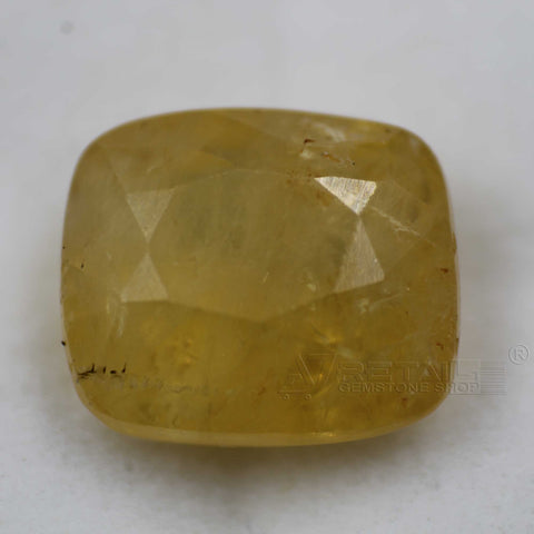 Natural PUKHRAJ 8.95 carat premium quality Unheated | Untreated YELLOW SAPPHIRE - 1 Mukhi Rudraksha
