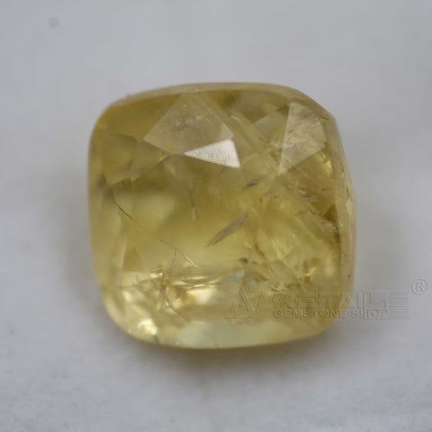 Natural PUKHRAJ 7.26 carat premium quality Unheated | Untreated YELLOW SAPPHIRE - 1 Mukhi Rudraksha