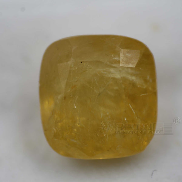 Natural PUKHRAJ 7.00 carat premium quality Unheated | Untreated YELLOW SAPPHIRE - 1 Mukhi Rudraksha