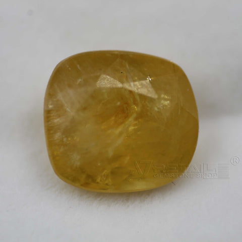 Natural PUKHRAJ 6.05 carat premium quality Unheated | Untreated YELLOW SAPPHIRE - 1 Mukhi Rudraksha