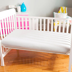 Breathable Breeze Air 2-Stage with Washable Cover Baby Crib & Toddler Mattress by Lullaby Earth - Welcome 2 My Crib