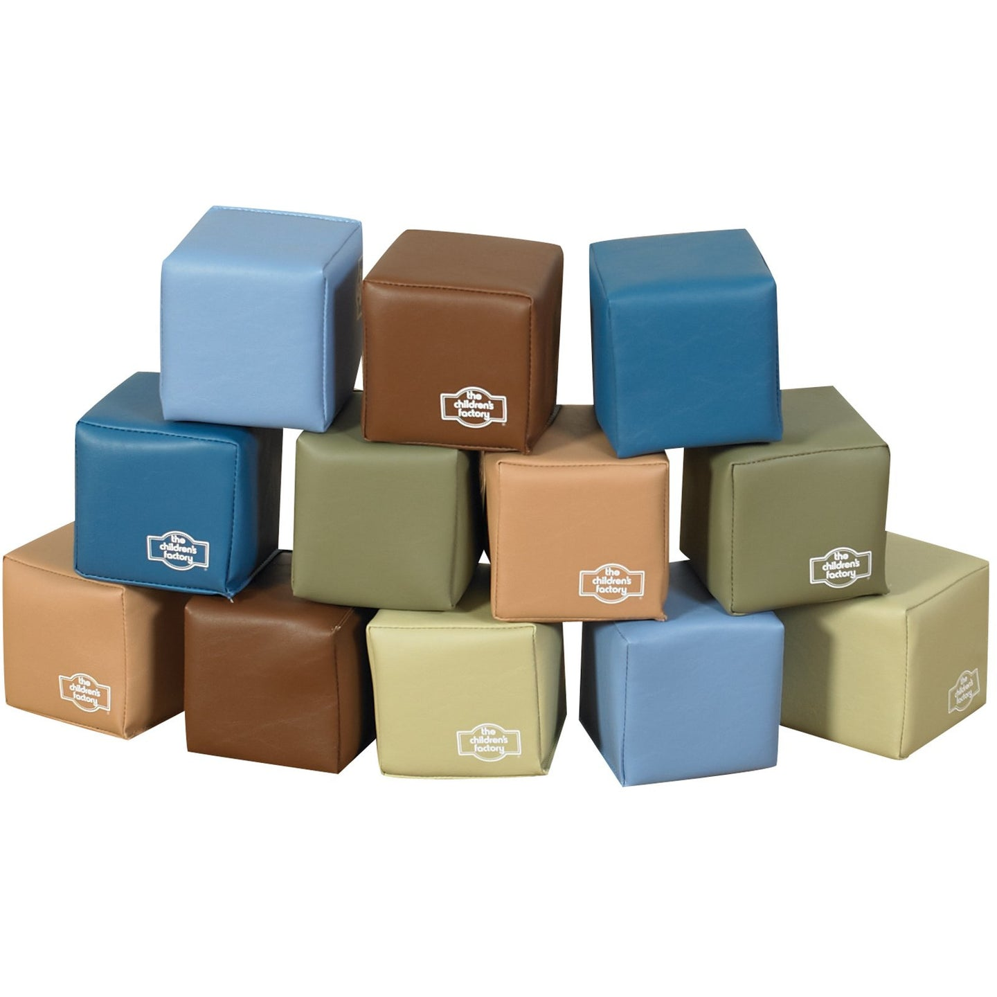 Children's Factory Baby Blocks in Woodland Colors – Set of 12 SKU CF705-392 - Welcome 2 My Crib