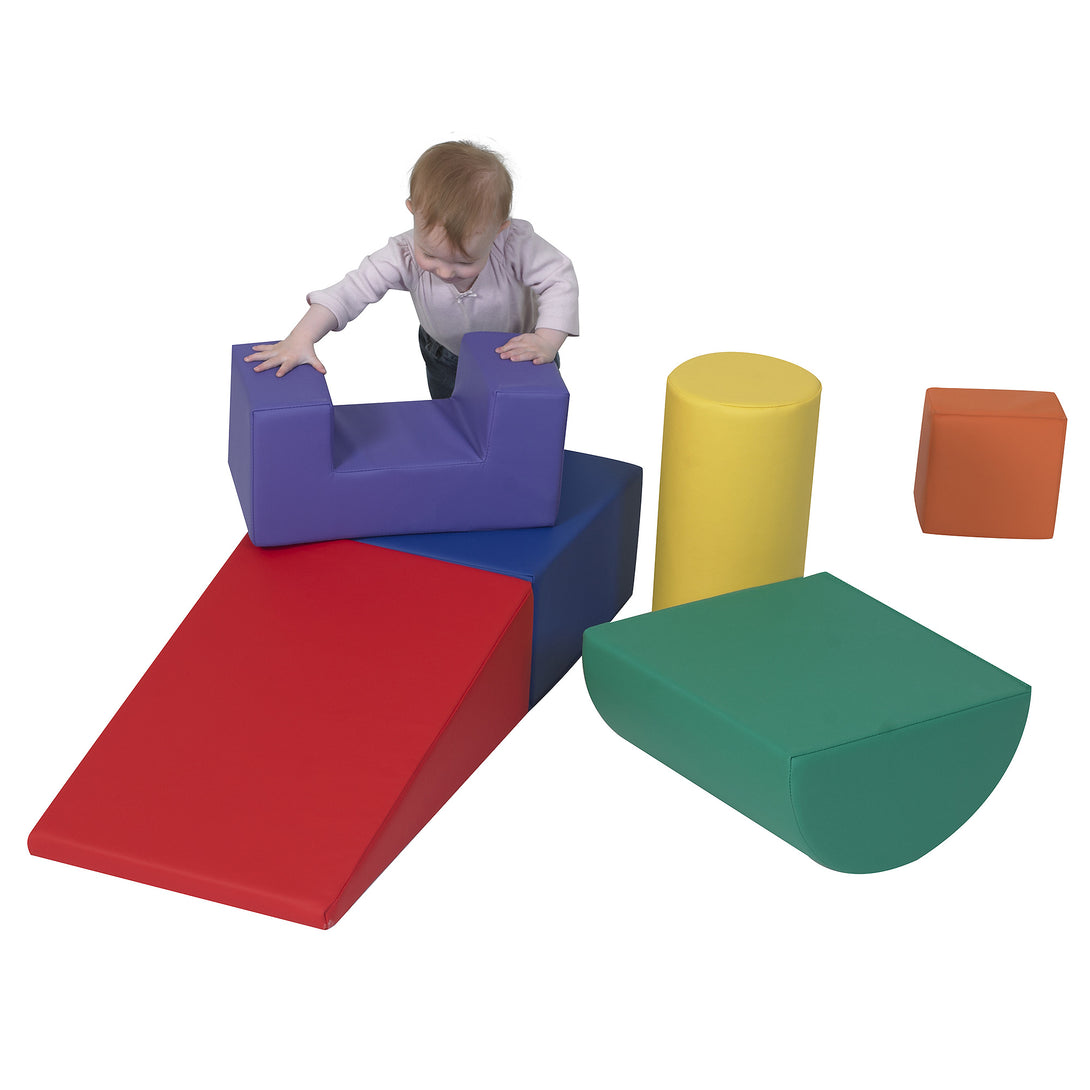 Children's Factory Climb and Play 6 Piece Set – Primary CF805-168 - Welcome 2 My Crib
