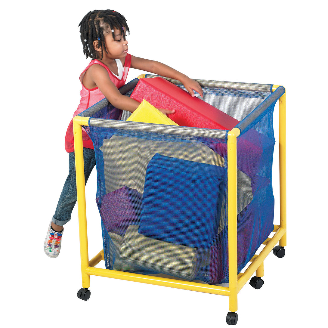 Children's Factory Mobile Equipment Heavy Duty Mesh Toy Box – Square - Welcome 2 My Crib