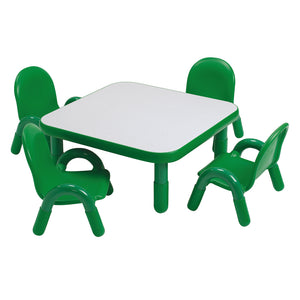 Angeles BaseLine® Toddler 30″ Square Table & 4 Chair Set - Welcome 2 My Crib