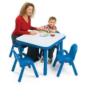 Angeles BaseLine® Preschool 30″ Square Table & 4 chair Set- 4 colors to choose from - Welcome 2 My Crib