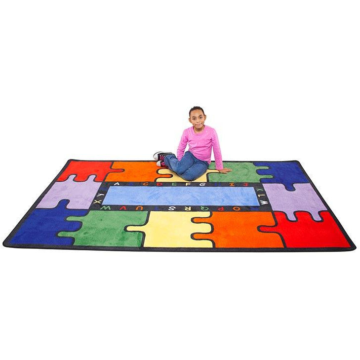 Learning Carpet ABC Rainbow Puzzle Rectangular Small CPR450 - Welcome 2 My Crib