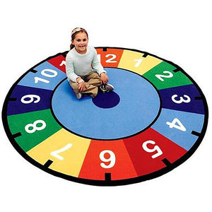 Children's Factory Educational Clock Round Large CPR530 - Welcome 2 My Crib