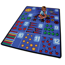 Children's Factory Educational Counting Rug 1 through 12 – Rectangular Large CPR862 - Welcome 2 My Crib