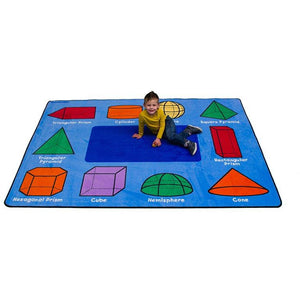 Learning Carpet 3D Geometric Shapes Rug – Rectangle Small CPR940 - Welcome 2 My Crib