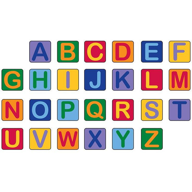 Learning Carpet Alphabet Seating Squares – Set of 26 SKU CPR944 - Welcome 2 My Crib