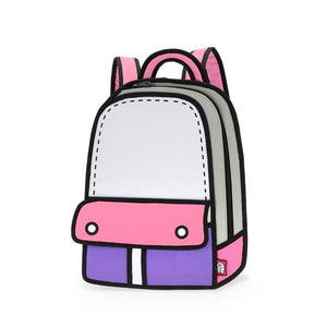 Jump from Paper Adventure Backpack PINK Cartoon JFP086 - Welcome 2 My Crib