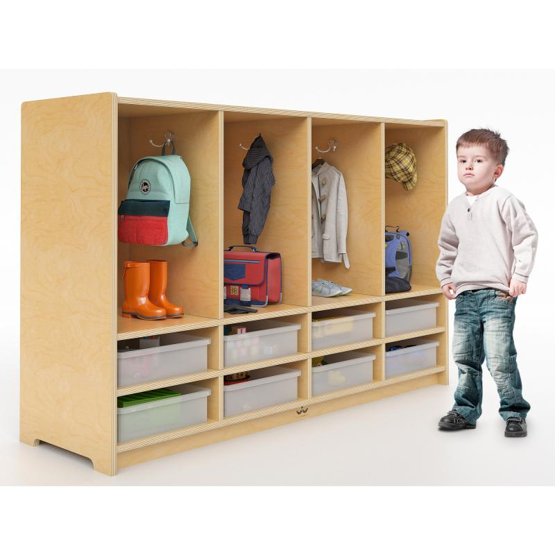 Whitney Brothers® Toddler Eight Section Coat Locker With Trays - WB3404 - Welcome 2 My Crib