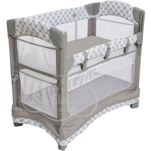 Arm's Reach Mini Ezee 3 in 1 Co-Sleeper Print w/Skirt Bedside Bassinet - Welcome 2 My Crib