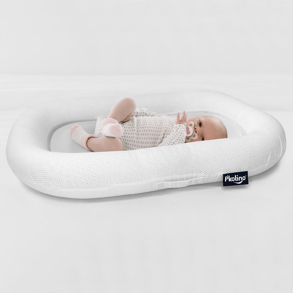 P'kolino Nuzzle Baby Lounger with Airatex Breathable White  0-8 months - Welcome 2 My Crib