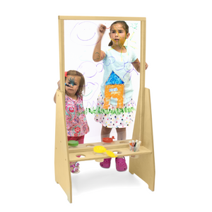 Whitney Brothers® Children's Clear Window Art Easel 2 Sided SKU WB1862 - Welcome 2 My Crib