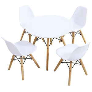 P'Kolino Criss Cross Modern Table and 4 Chairs Set - White HW61364-4 - Welcome 2 My Crib