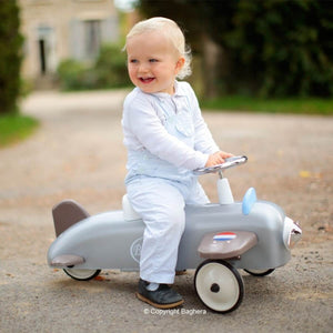 Baghera Speedster Plane Vintage Ride-On Toy Baby Walker Age 1 and up SKU878 - Welcome 2 My Crib