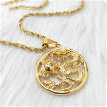 Load image into Gallery viewer, LUCKY DRAGON NECKLACE