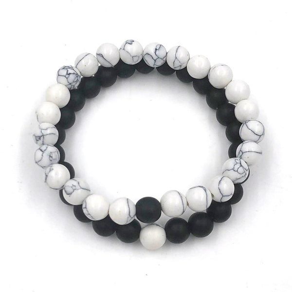 Yin and Yang Two Piece Bracelet