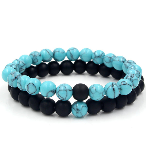 Sky Blue and Black Onyx Set