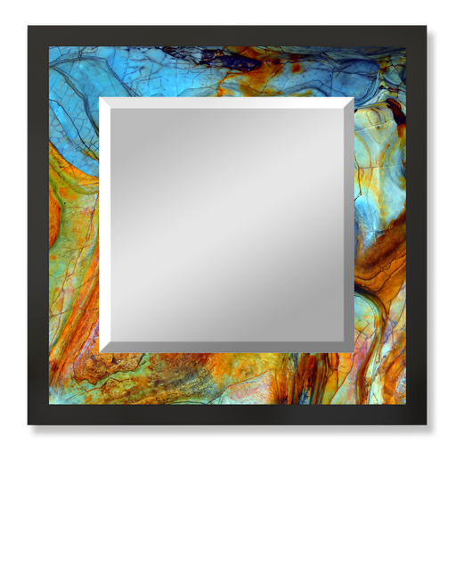 """Color Blend"" Square Mirror"