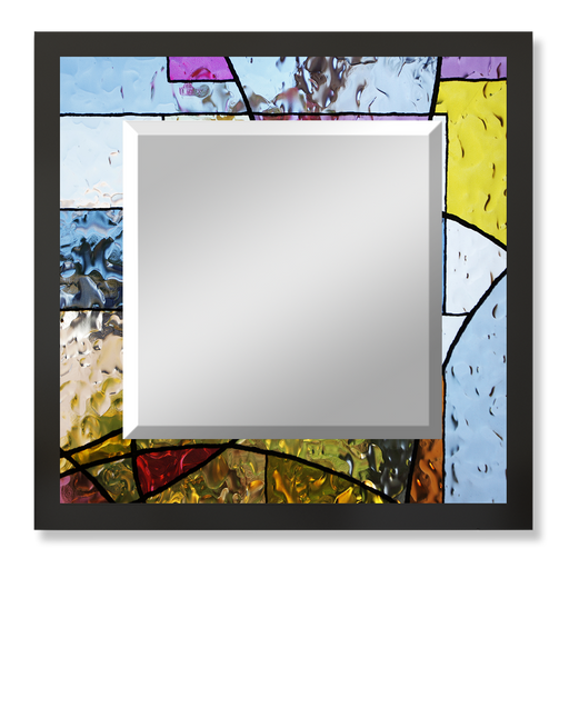 """Stained Glass"" Square Mirror"