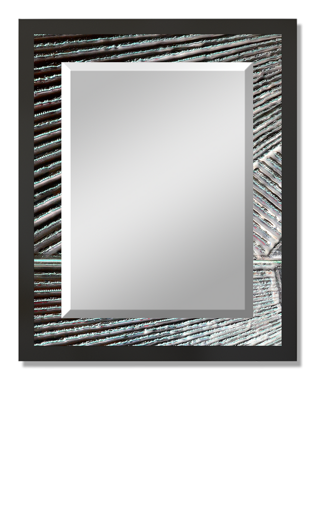 """Textured"" Rectangular Mirror"