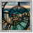 """Miami Beach"" - Square Window Spiral Clock"