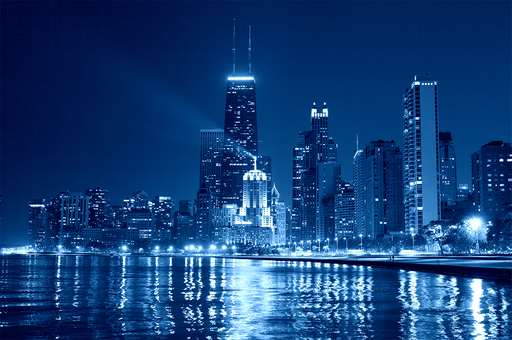 """Chicago Nights"" - Art & Light"