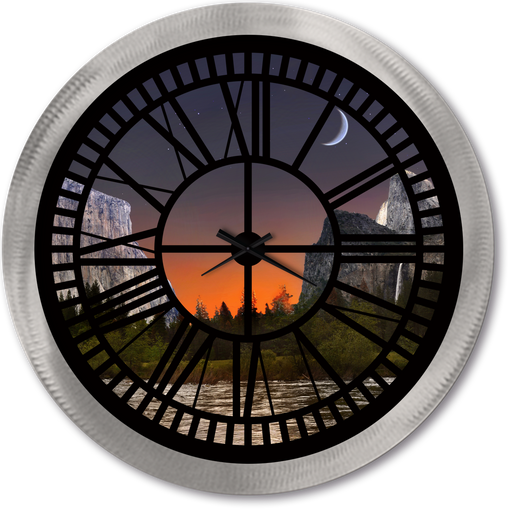 """Yosemite"" - Roman Window Clock"