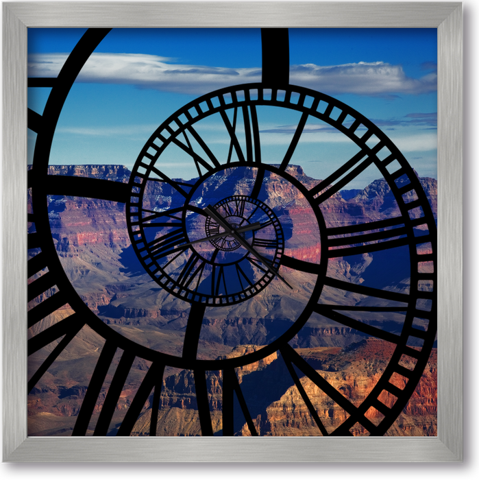 """Grand Canyon"" - Square Window Spiral Clock"