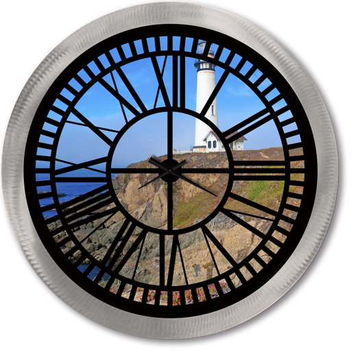 """Light House"" - Roman Window Clock"