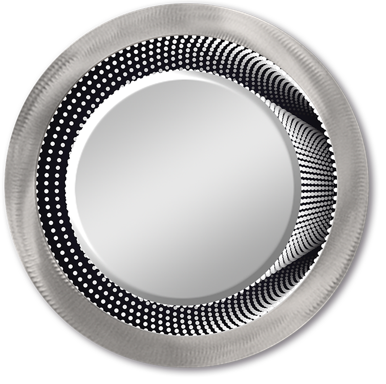 """Infinity Column"" - Lighted Round Mirror"