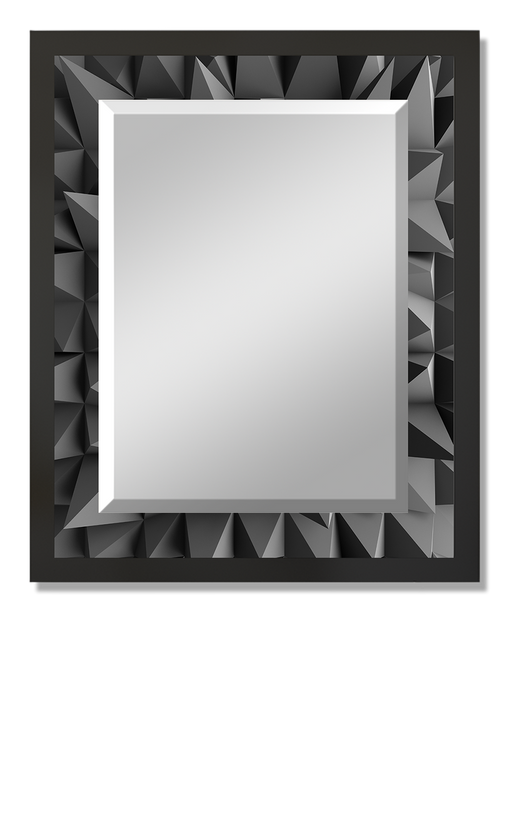 """Polygons"" Rectangular Mirror"
