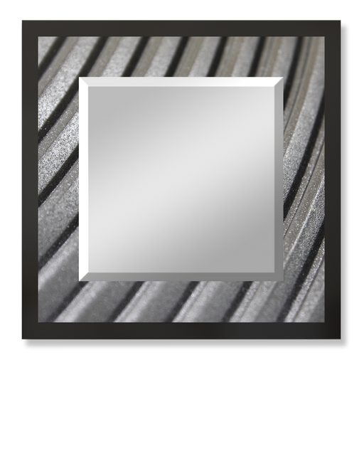 """Industrial Steel"" Square Mirror"