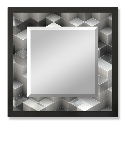 """Rubics"" Square Mirror"