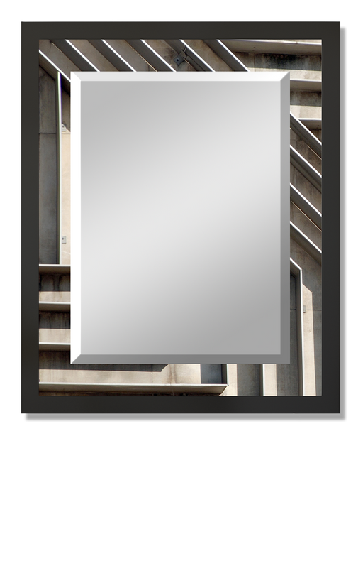 """Corrugated"" Rectangular Mirror"