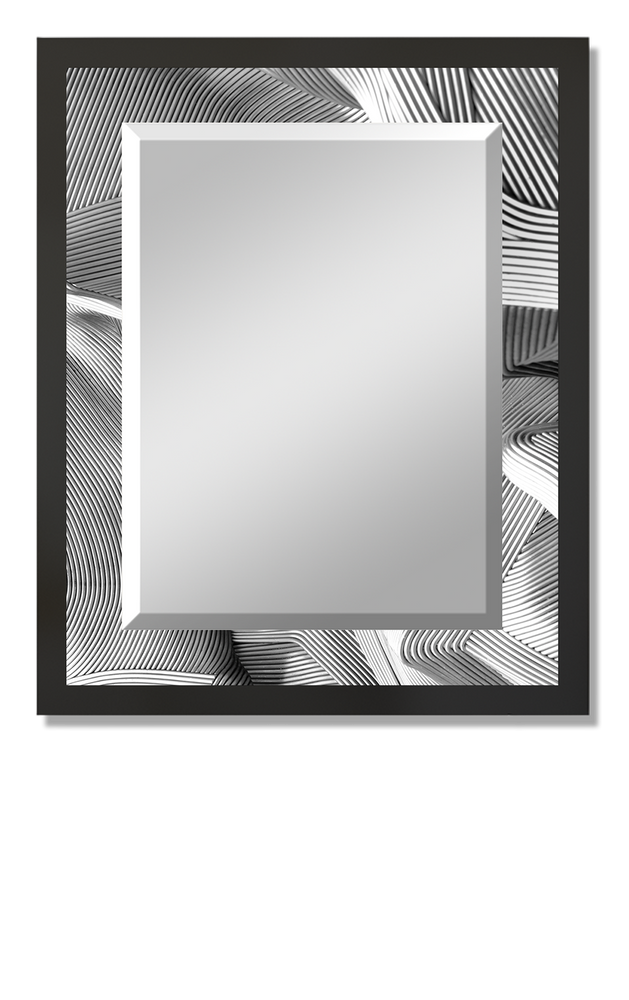 """White Ropes"" Lighted Rectangular Mirror"