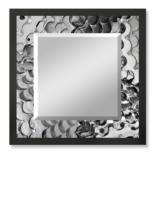 """Sprockets"" Square Mirror"