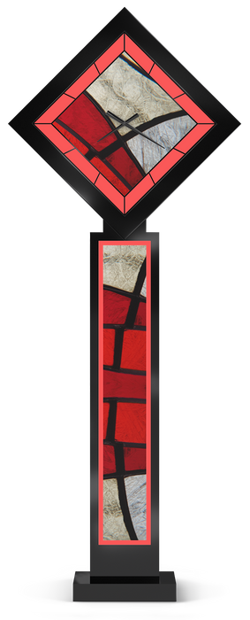 Red Zone Pedestal Clock