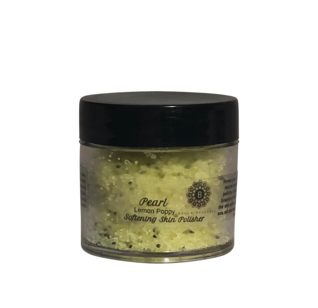 Bella Opulence Mini Lemon Poppy Pearl Softening Skin Polisher Sea Salt Body Scrub