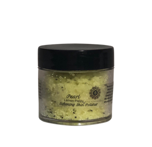Mini Lemon Poppy Pearl Softening Skin Polisher Luxury body scrub