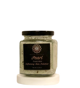 BELLA OPULENCE Fresh Mint Pearl Softening Skin Polisher Sea Salt Body Scrub