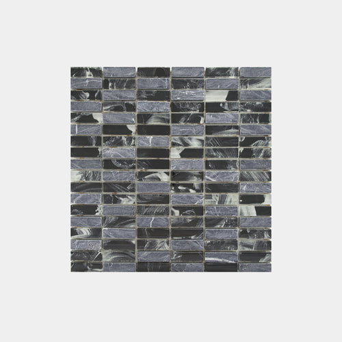 Mixed Marble Grey Glass Mosaic