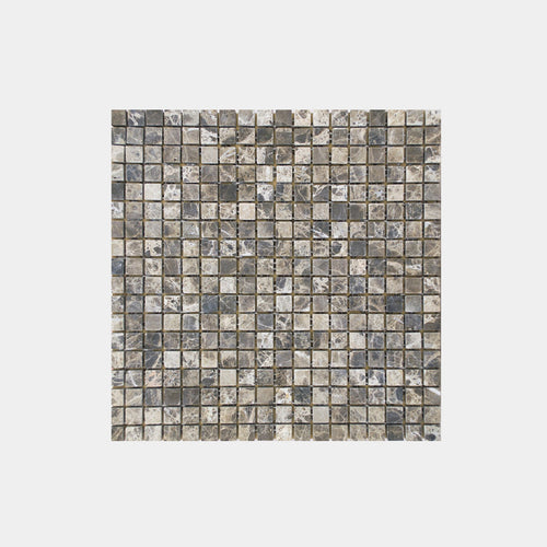 Mixed Marble Ash Brown Mosaic