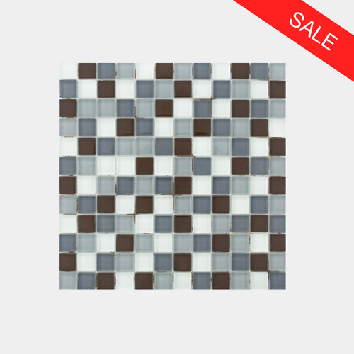 Earth Light Brown Glass Mosaic