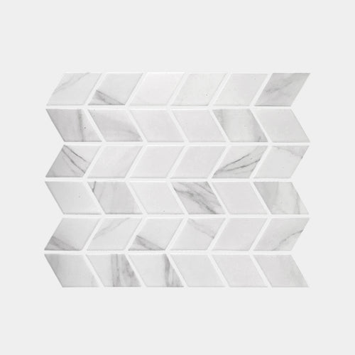 Carrara look Rhombus Matt Mosaic