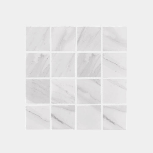 Carrara look Square Matt Mosaic