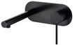 Roul Wall Basin Mixer Matt Black